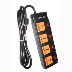 Supresor de picos 4 salidas con interruptores independientes, cordon de 2 metros