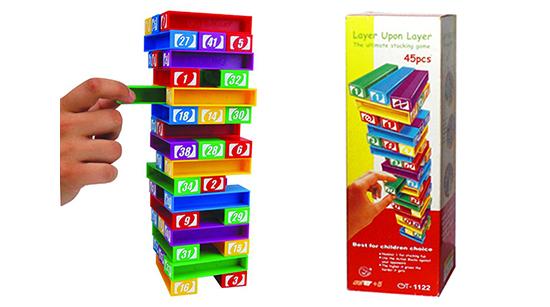Juego didactico GOLDEN TOYS GT-0606 para niños de 5 años a + 45 piezas para armar tamaño de la caja: 9 X 27 X 9 cms