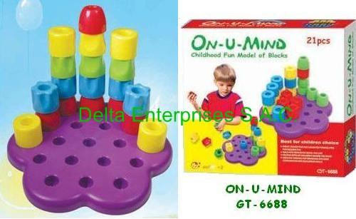 Juego didactico ON-U-MIND GT-6688 - para niños de 3 años a +